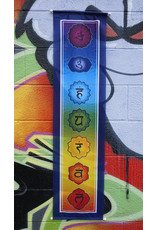 Seven Chakra Rainbow Banner