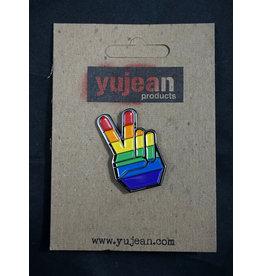Peace Pride Enamel Pin