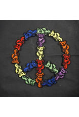 Grateful Dead Dancing Bear Peace Sign Patch