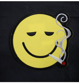 Smoking Smiley Face Patch