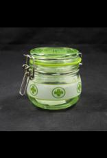 Medical Leaf Glass Jar - Small