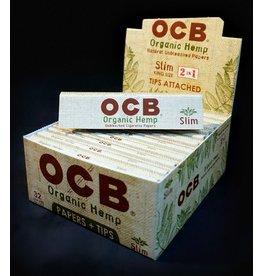 OCB OCB Organic Hemp Papers KS Slim w/ Tips