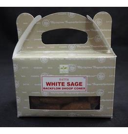 Satya Satya Backflow Cone  Incense  White Sage