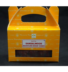 Satya Satya Backflow Cone  Incense  Sandalwood