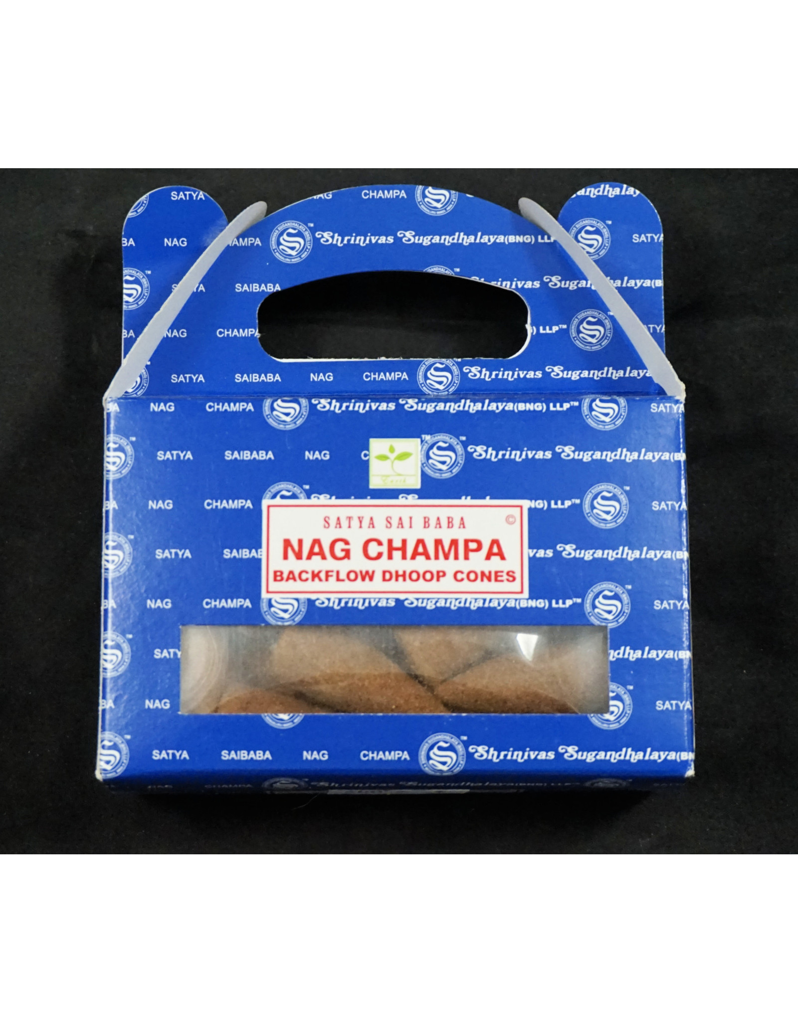 Satya Satya Backflow Cone  Incense  Nag Champa
