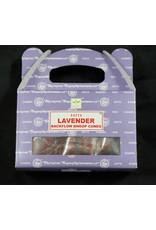 Satya Satya Backflow Cone  Incense  Lavender