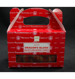 Satya Satya Backflow Cone  Incense  Dragons Blood