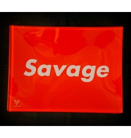 V Syndicate V Syndicate Glass Small Rolling Tray Savage