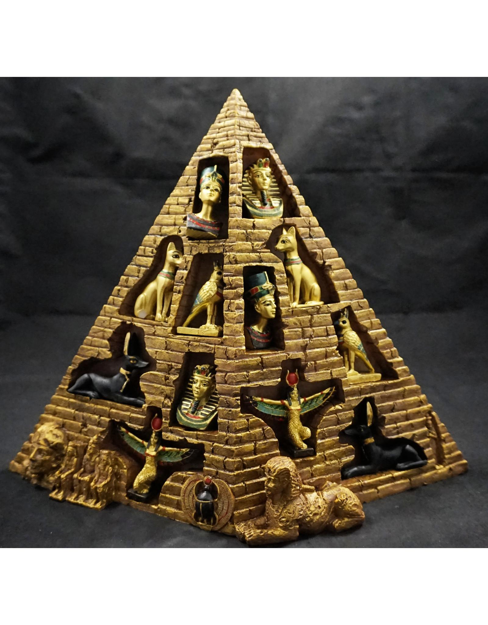 Egyptian Statue - Egyptian Set with Pyramid Display