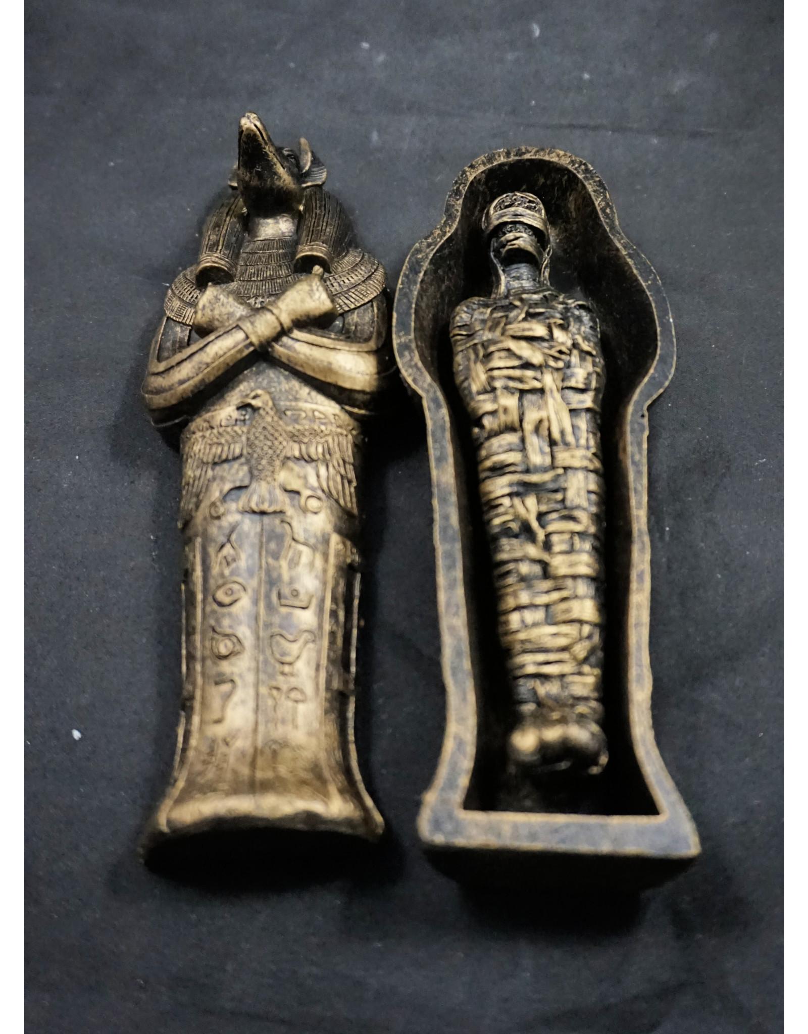 Egyptian Statue - Anubis Sarcophagus w/ Mummy