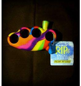 Pulsar Pulsar Silicone Knuckles Bubbler Tie Dye