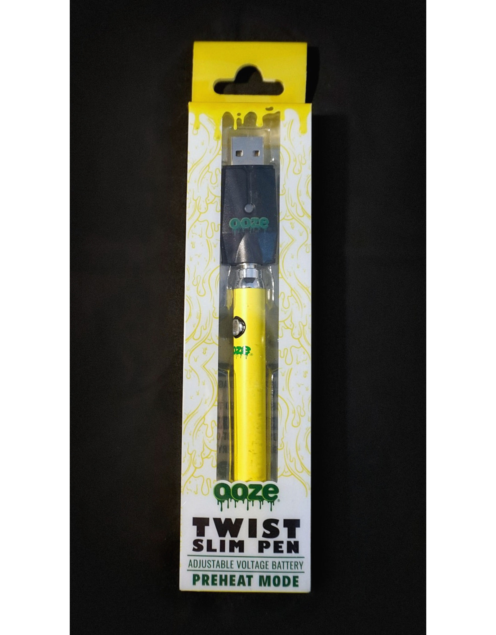 Ooze Ooze Twist Battery with USB Charger Yellow
