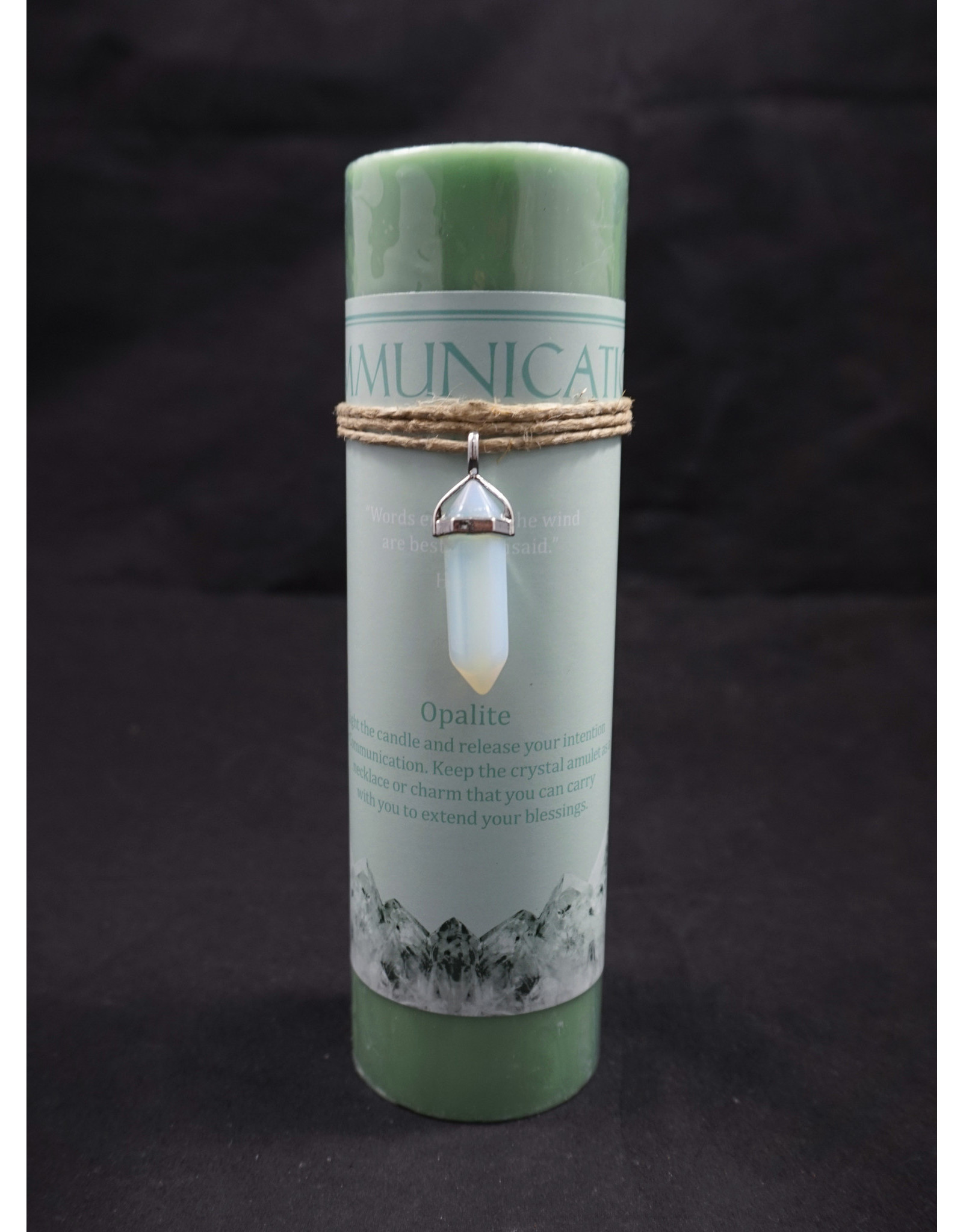 Crystal Energy Pendant Candle – Opalite Communication