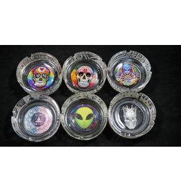 Smokezilla Glowing Etched Glass Ashtray - Assorted