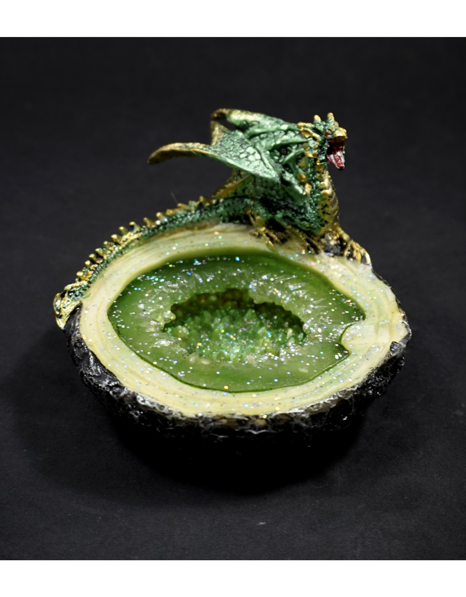 Green Dragon Geode Ashtray