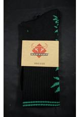 Mad Toro Mad Toro Socks Black w/ Green Leaves