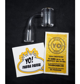 Yo Dabba Dabba Quartz 25mm Beveled Flat Top Banger 10mm Female