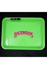 Backwoods LED Glow Medium Rolling Tray - Green