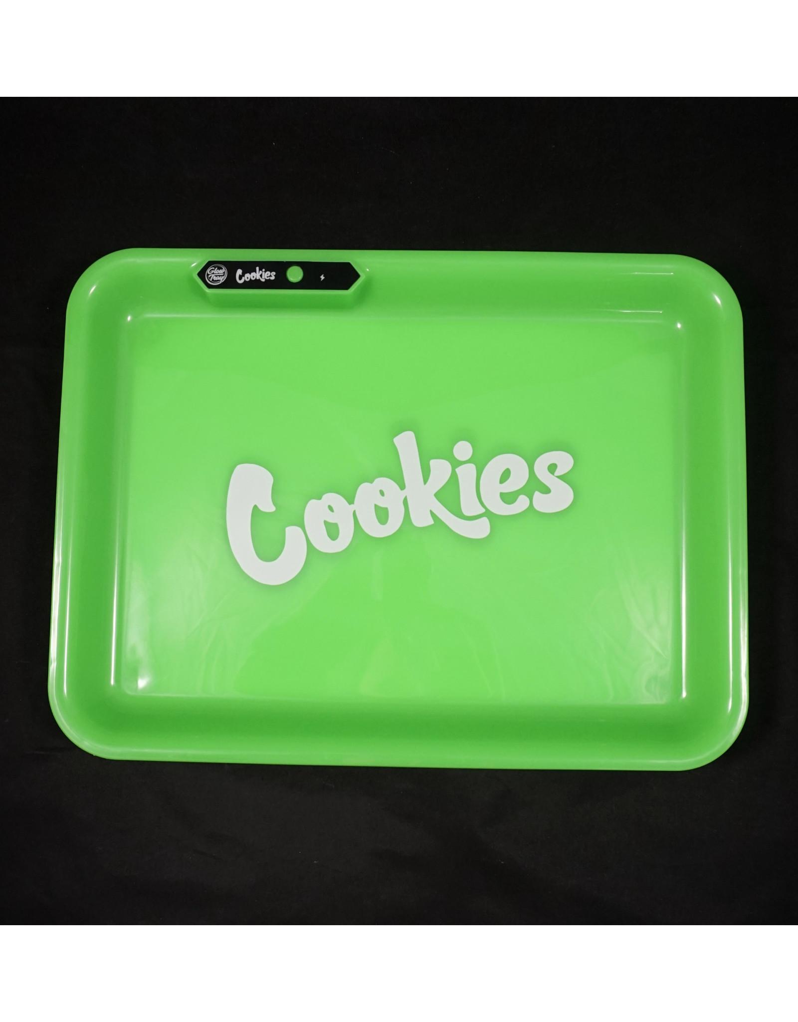 Cookies LED Glow Medium Rolling Tray - Green