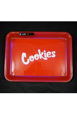 Cookies LED Glow Medium Rolling Tray - Red