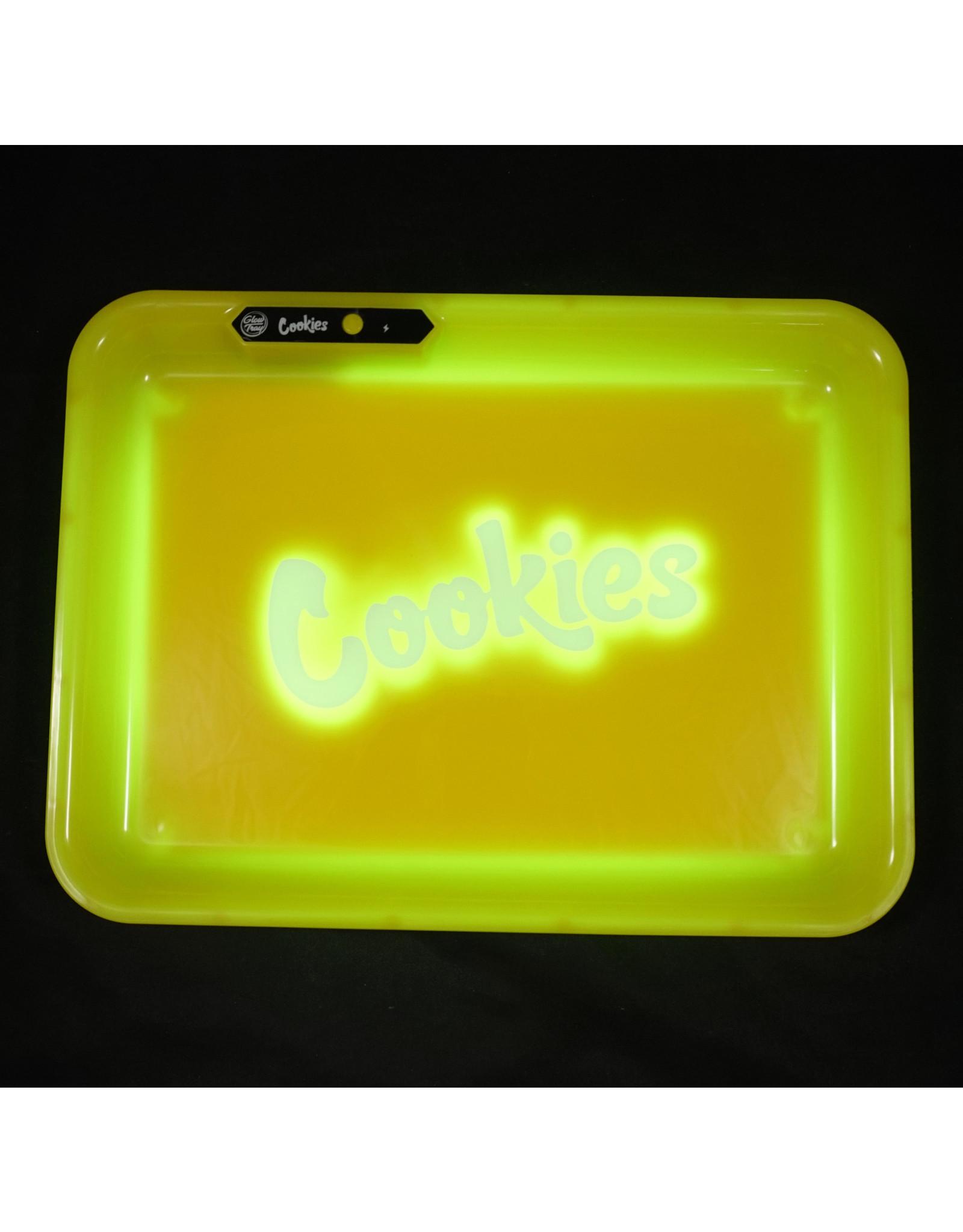 Cookies LED Glow Medium Rolling Tray - Yellow