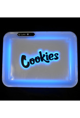 Cookies LED Glow Medium Rolling Tray -White