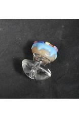 Empire Glassworks Puffco Peak Carb Cap - Blue Donut