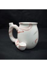 Ceramic Pipe Mug – Roast and Toast Marbled Pink