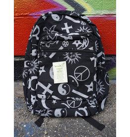 Symbols Black Backpack
