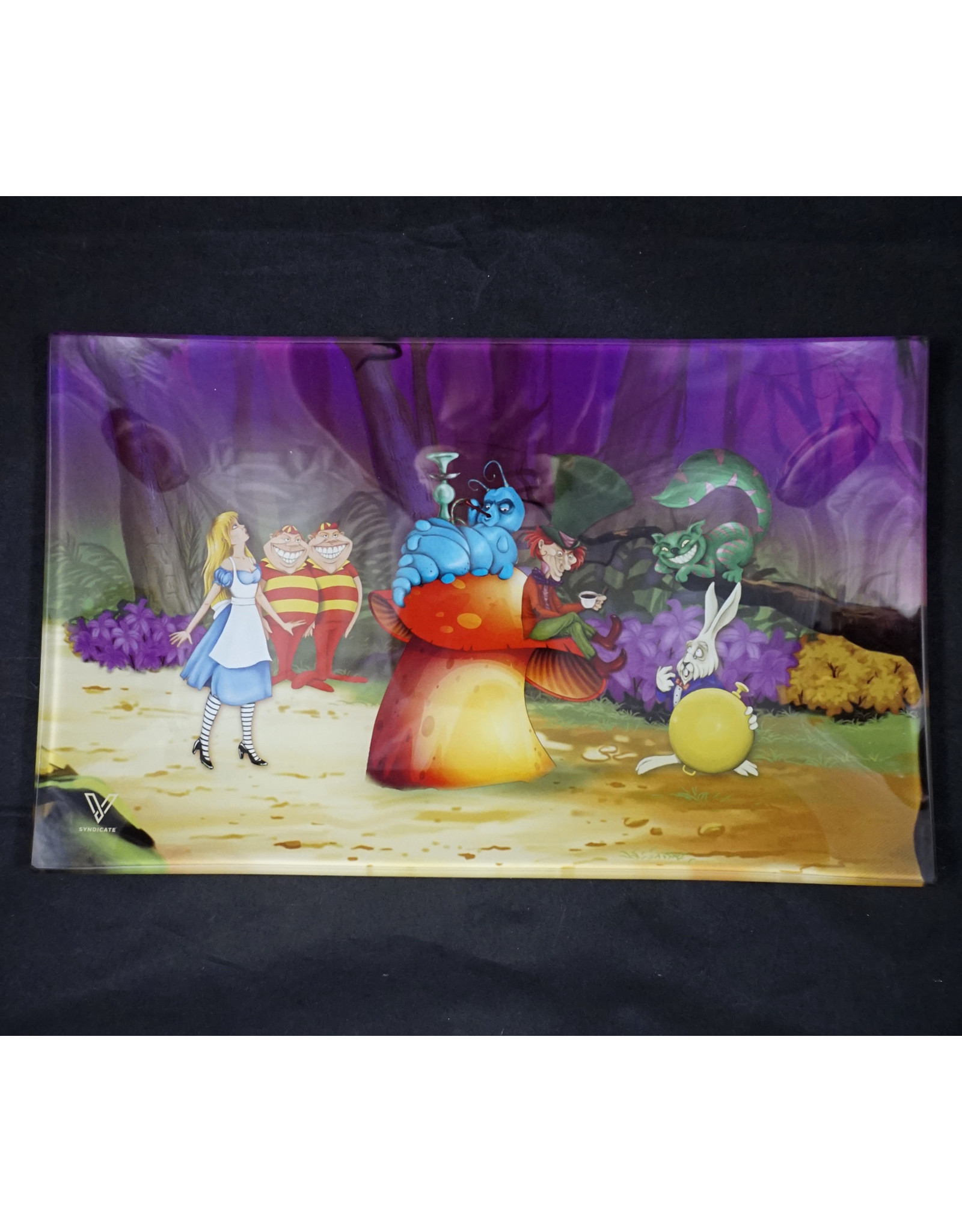 Alice Mushroom Medium Glass Rolling Tray