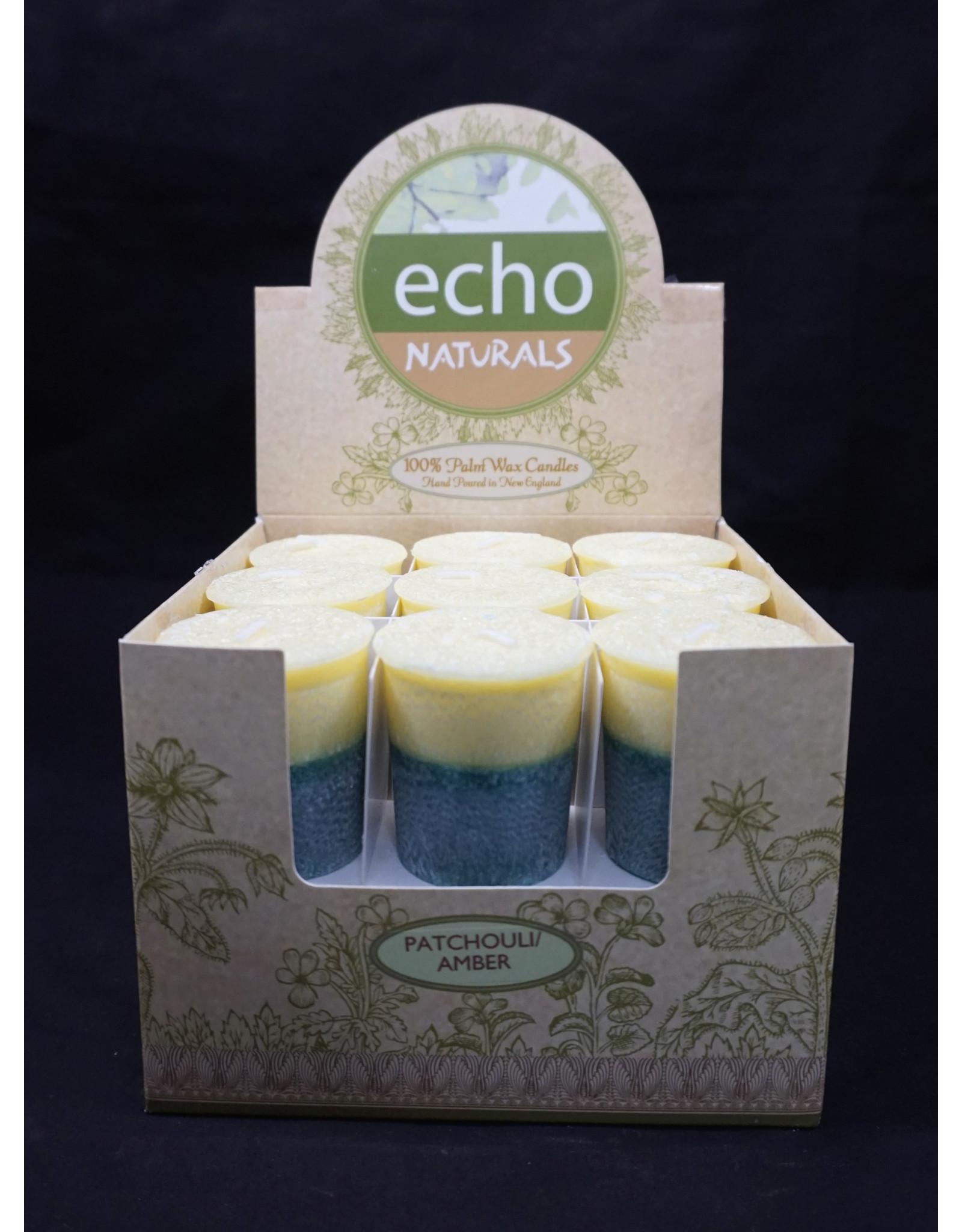 Echo Naturals Votive Candle - Patchouli Amber