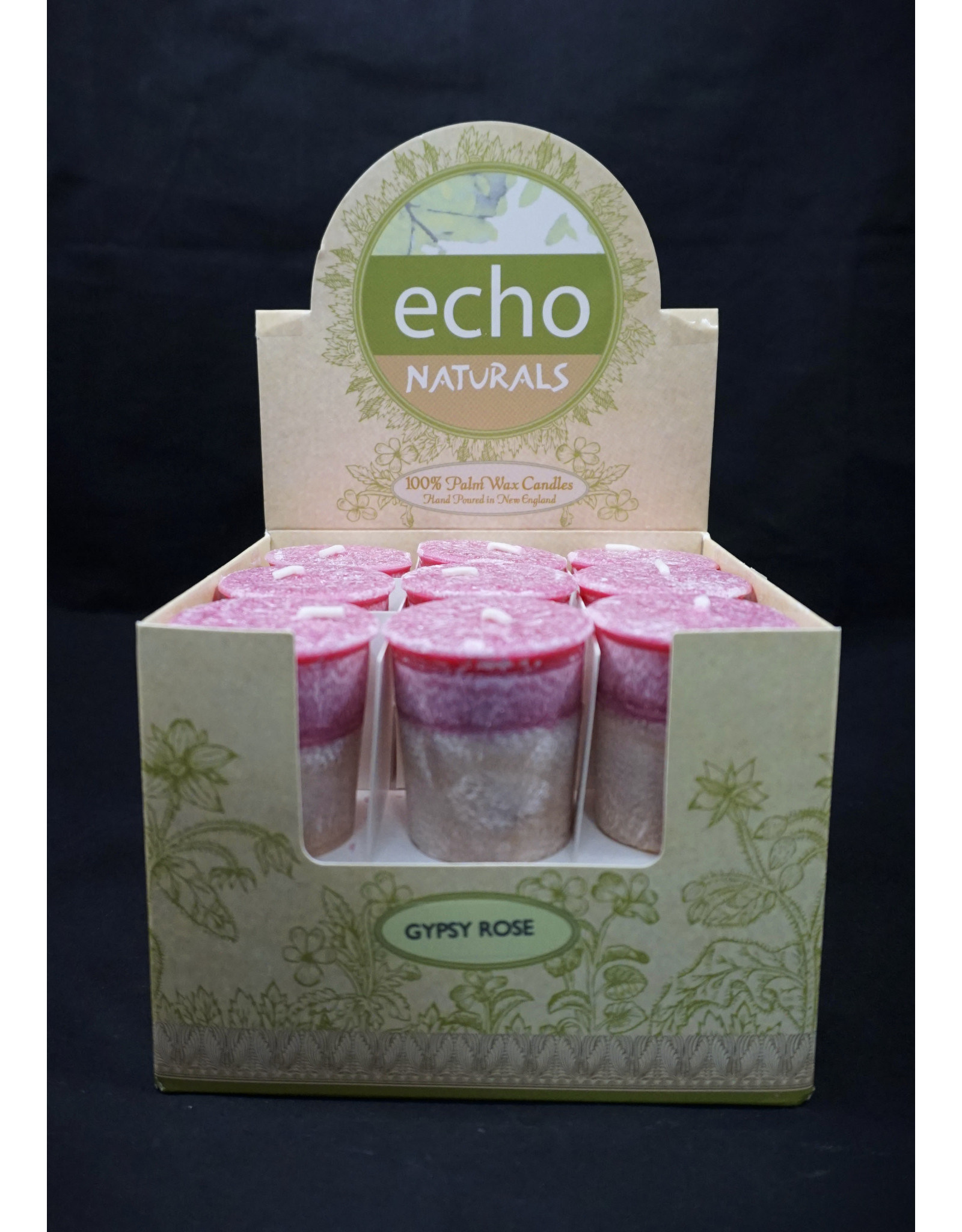 Echo Naturals Votive Candle - Gypsy Rose