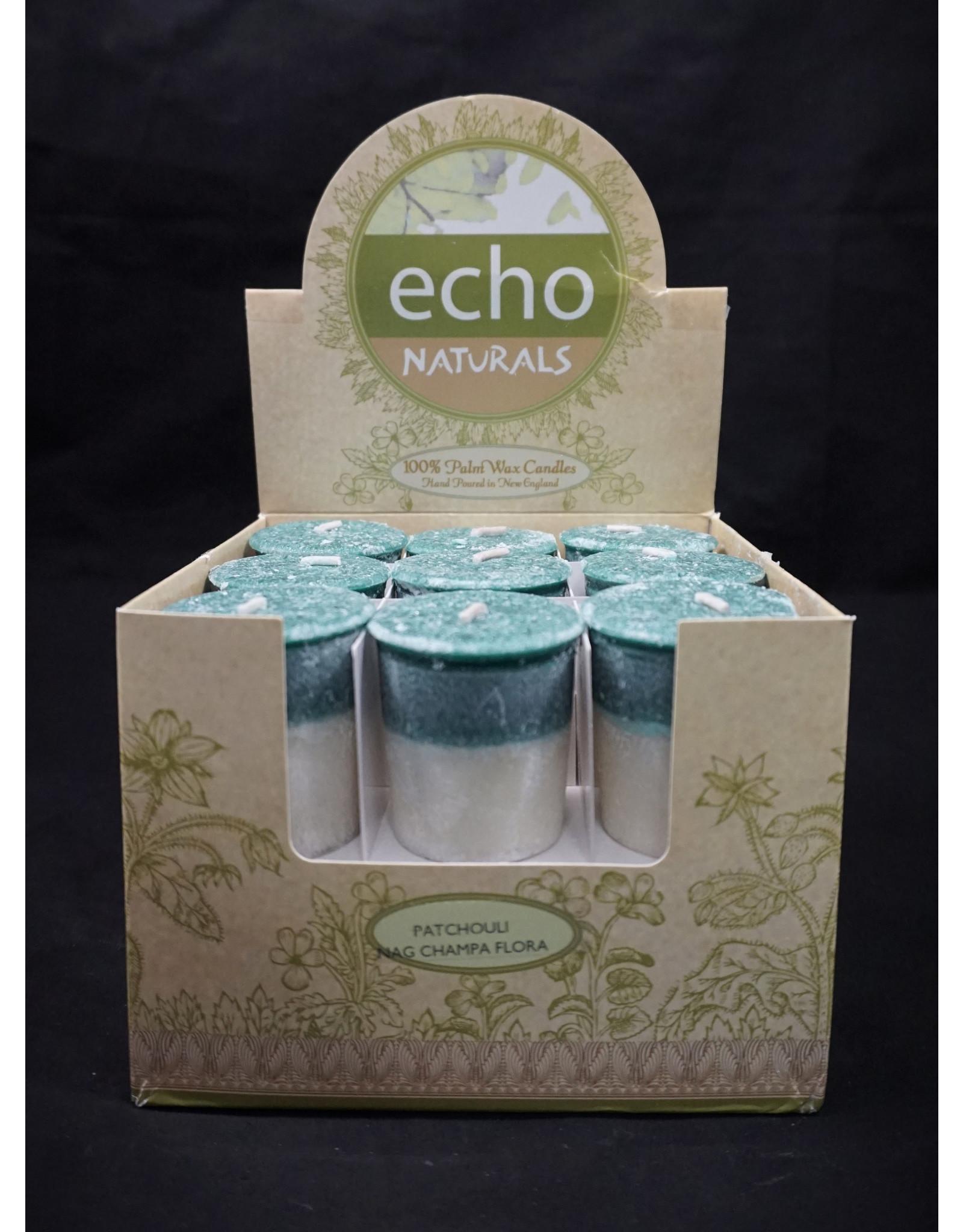 Echo Naturals Votive Candle - Patchouli Nag Champa Floral