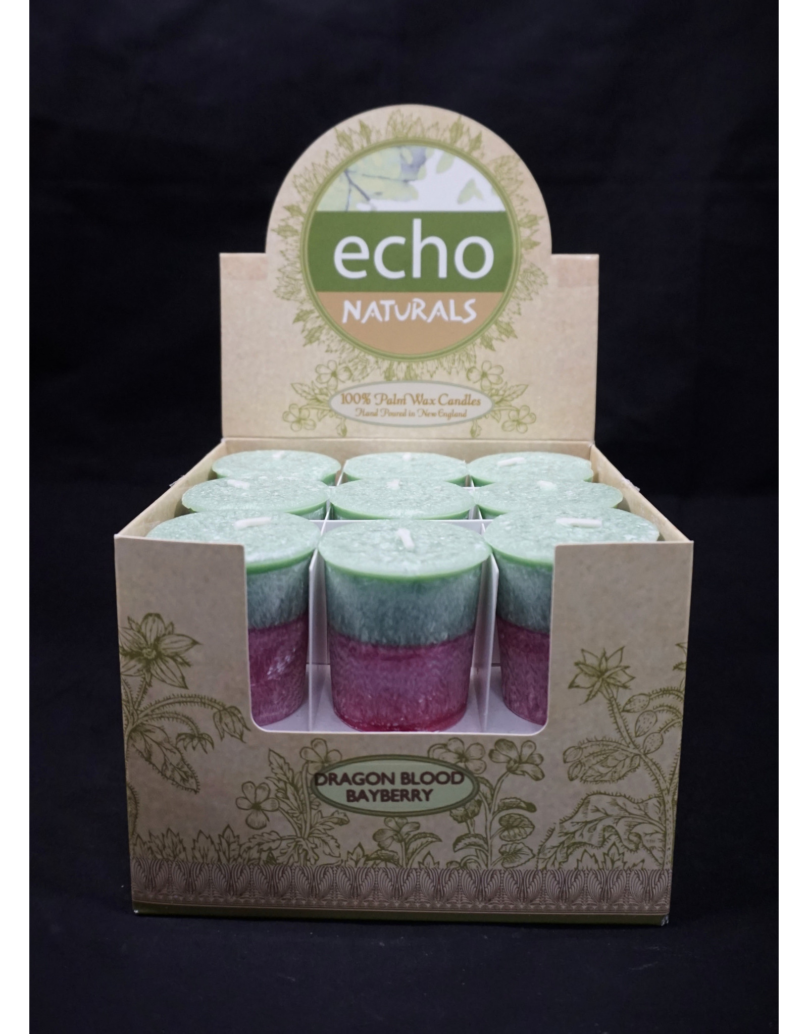 Echo Naturals Votive Candle - Dragon Blood Bayberry