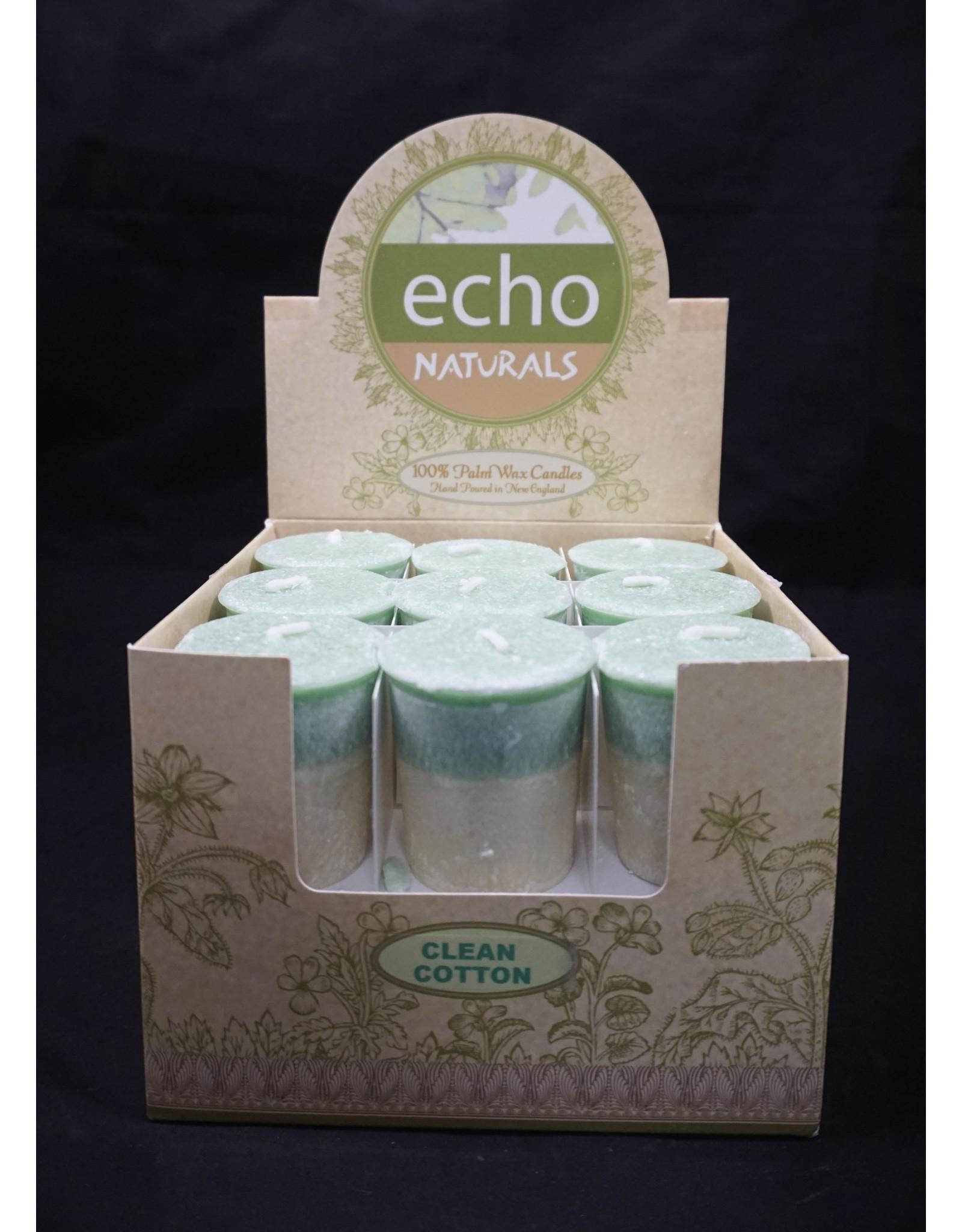 Echo Naturals Votive Candle - Clean Cotton