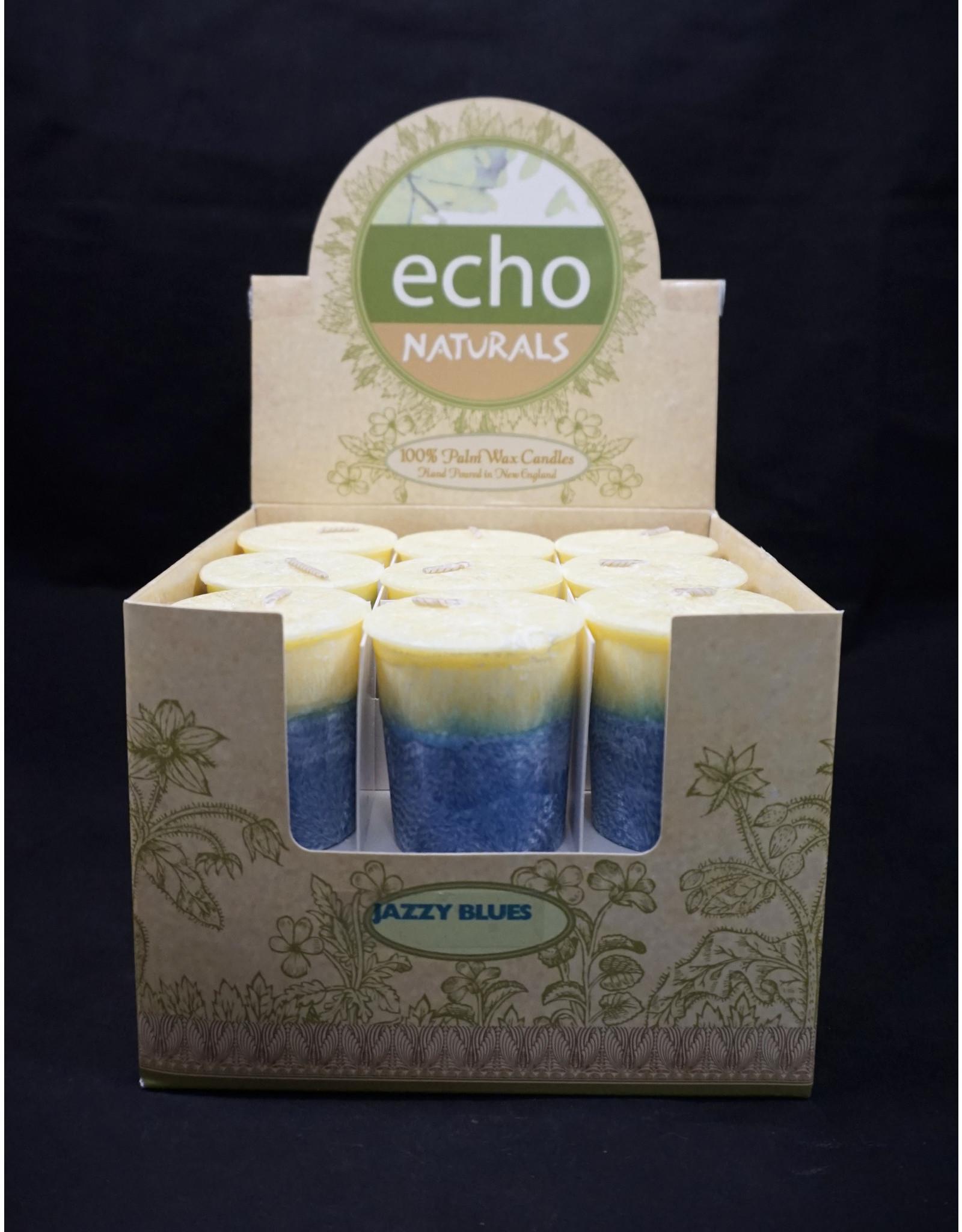 Echo Naturals Votive Candle -Jazzy Blues