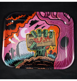 Raw Raw Zombie Large Rolling Tray