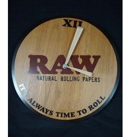 Raw Raw Wooden Wall Clock