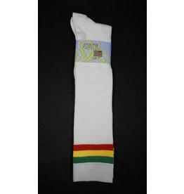 Julietta Rasta Stripes Knee High Socks - White