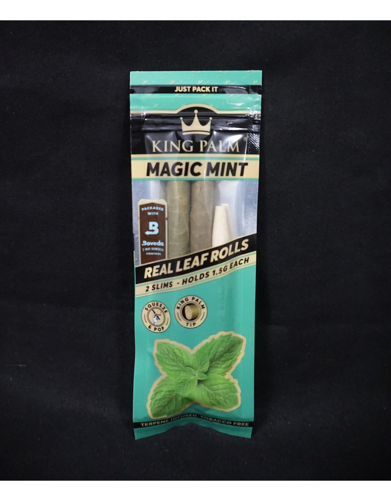 King Palm King Palm Pre-Roll Wraps - 2pk Slim Magic Mint