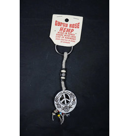 Peace Symbol Cutout Keychain
