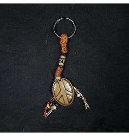 Bone Peace Pendant Keychain