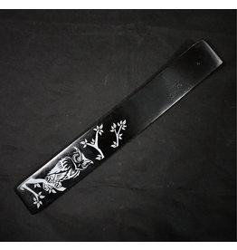 Painted Wood Incense Holder - Owl Black