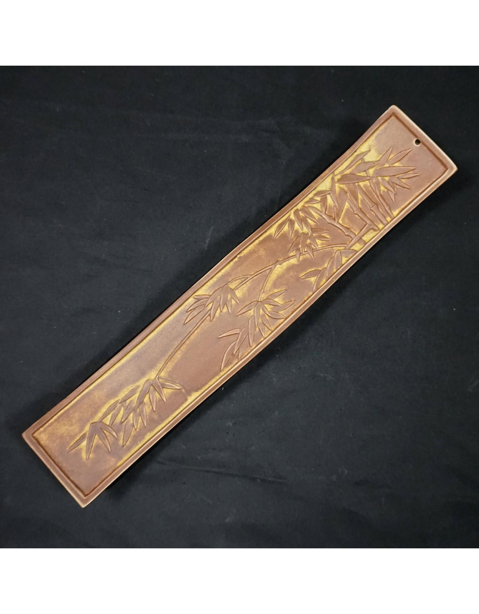Bamboo Leaves Ceramic Incense Burner