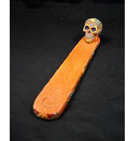 Orange Sugar Skull Incense Burner