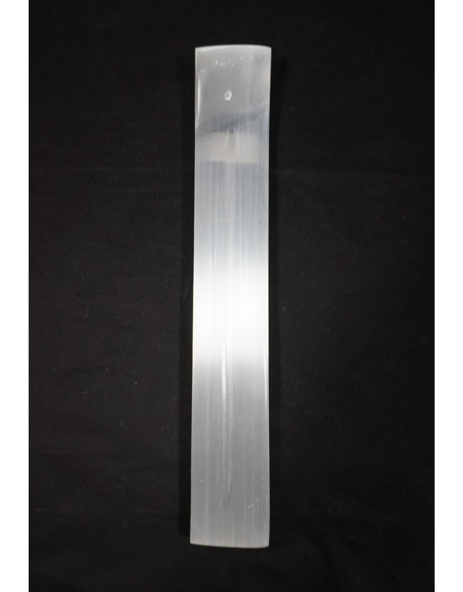 Gemstone Carving Long Incense Holder White Selenite
