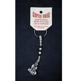 Buddha Hemp Bone Keychain