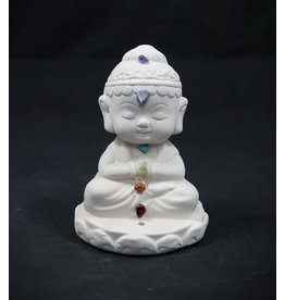 Gypsum Cement Statue Incense Burner - Chakra Buddha