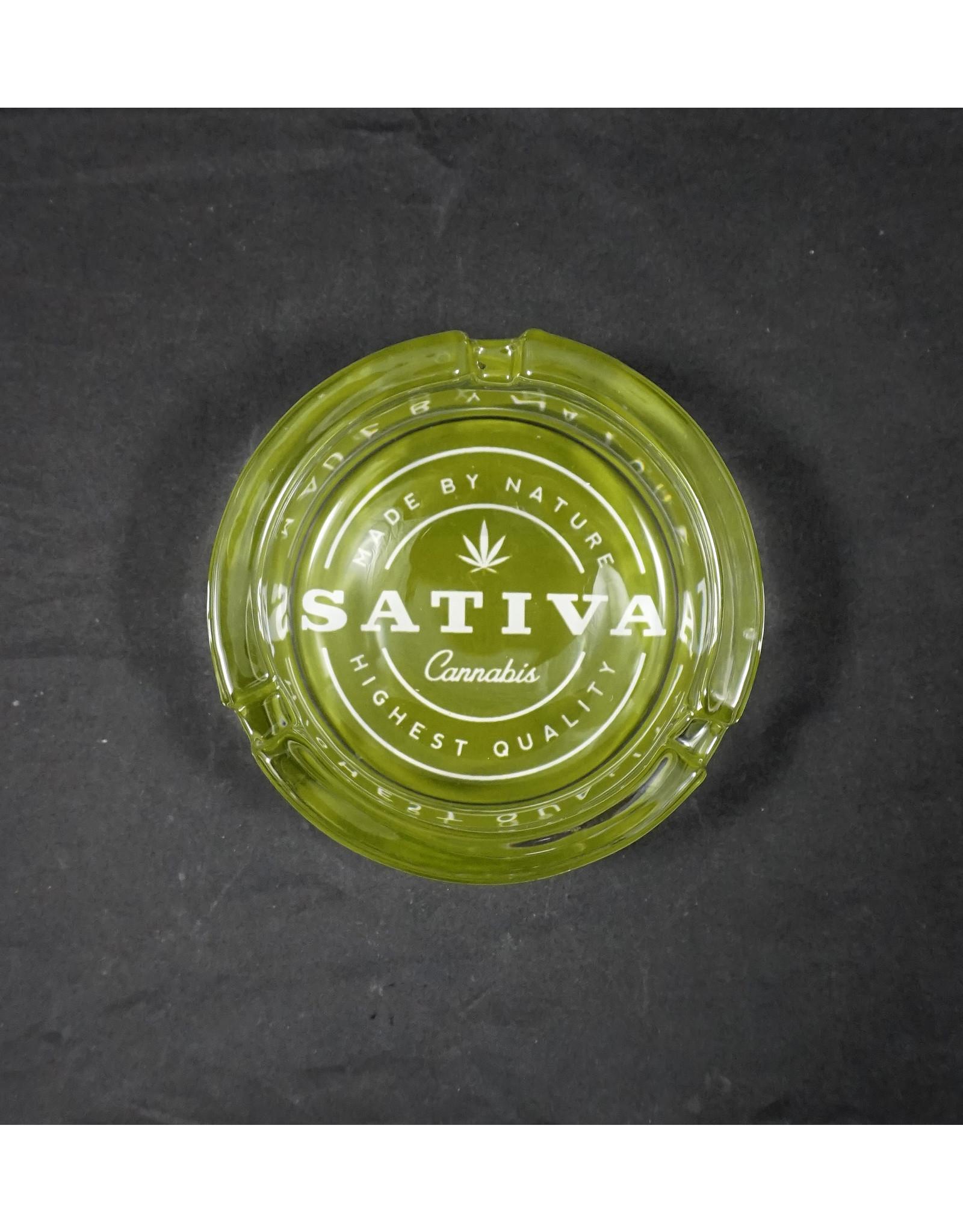 Fujima Strains Glass Ashtray - Sativa