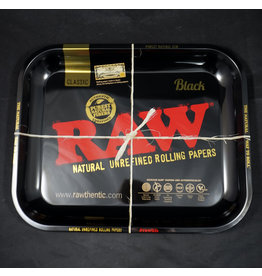 Raw Raw Black Rolling Tray - Large